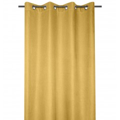 Draperie moderna confectionata cu inele Arsene galben mustar