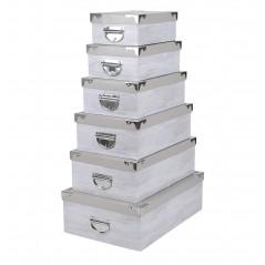 Set 6 cutii depozitare Nortik gri