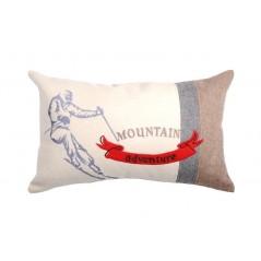 Perna decorativa dreptunghiulara Mountain crem si bej
