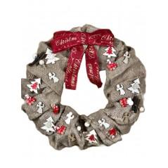 Coronita de Craciun handmade unicat Karo Festive Joy 6