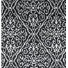 Metraj draperie si tapiterie catifea BW Marbella alb cu negru