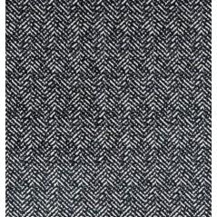 Metraj draperie si tapiterie catifea BW Herringbone alb cu negru