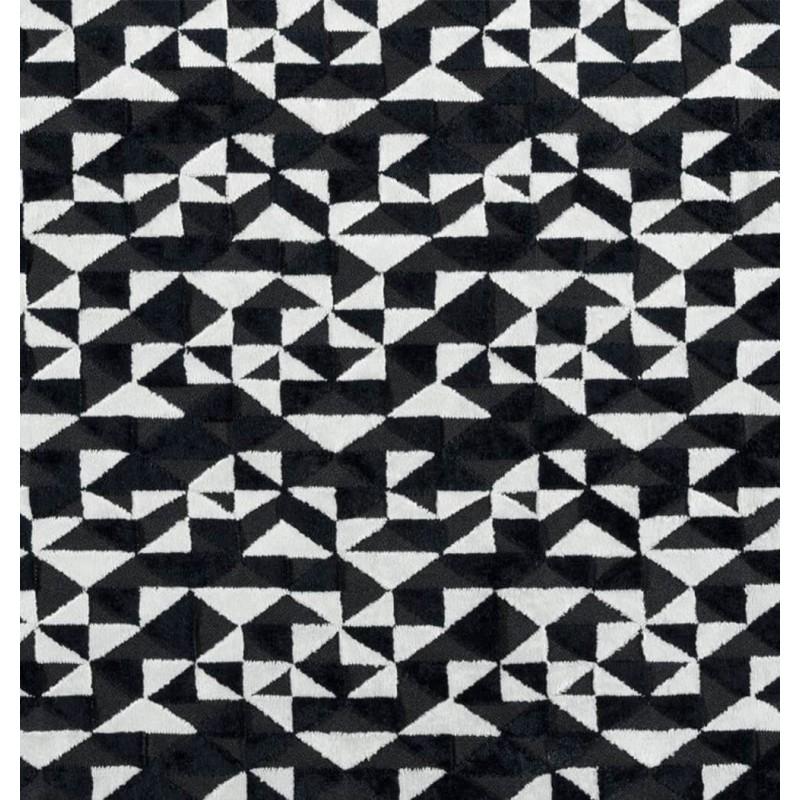 Metraj draperie si tapiterie catifea BW Geometry alb cu negru