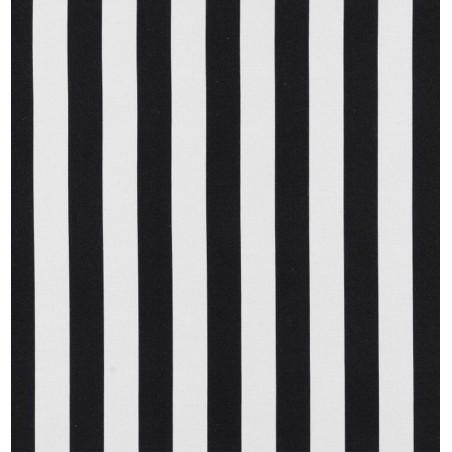 Metraj draperie tapiterie cu dungi BW Stripe alb cu negru
