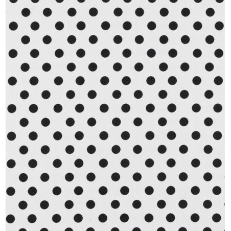 Metraj draperie si tapiterie bumbac cu buline BW Spots alb cu negru