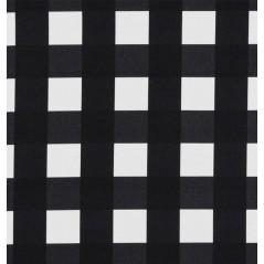 Metraj draperie si tapiterie cu patrate BW Phoenix alb cu negru
