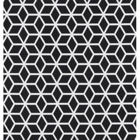 Metraj draperie si tapiterie modern BW Fanfare alb cu negru