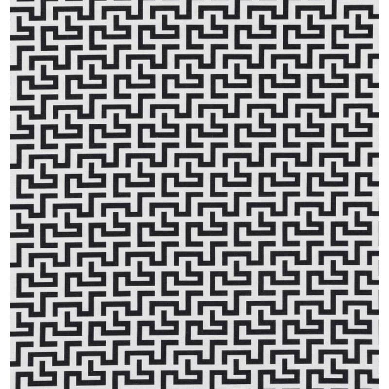 Metraj draperie tapiterie modern BW Maze alb cu negru