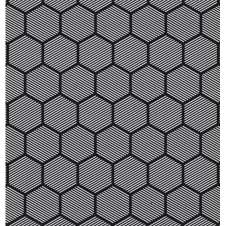 Metraj draperie si tapiterie model geometric BW Comb alb cu negru geometric