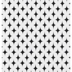 Metraj draperie sau tapiterie bumbac BW Cirrus alb cu negru