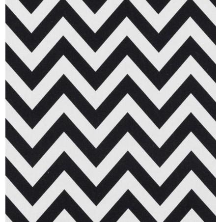Metraj draperie si tapiterie geometric BW Chevron alb cu negru