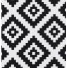 Metraj draperie si tapiterie geometric BW Adobe alb cu negru