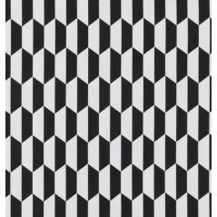 Metraj draperie si tapiterie geometric BW Arena alb cu negru