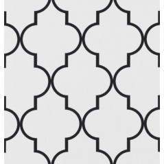 Metraj draperie si tapiterie geometric BW Amaro alb cu negru