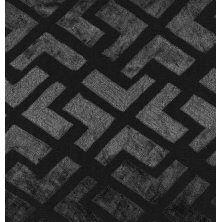 Metraj draperie elegant cu model geometric Marvel negru