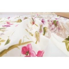 Metraj draperie bumbac Goya cu flori mov