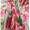 Metraj draperie dimout cu flori colorate Bohemiapeq rosu