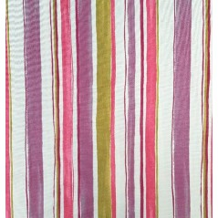 Metraj draperie bumbac design geometric cu dungi multicolore