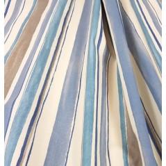 Metraj draperie bumbac Zurbalan cu dungi crem cu albastru