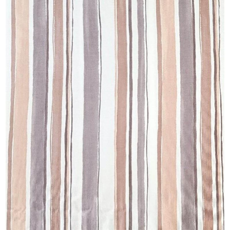 Metraj draperie bumbac design geometric cu dungi late bej si gri
