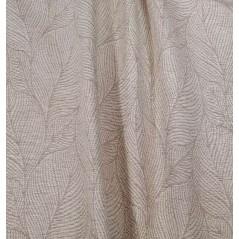 Metraj draperie texturat cu frunze Flame Azaro bej si alb