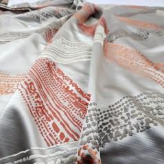 Metraj draperie de lux Exposure grej cu portocaliu