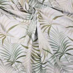 Metraj draperie Palmas cu frunze vernil pe fond alb