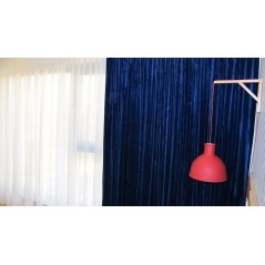 Metraj draperie si tapiterie catifea Italian Velvet albastru