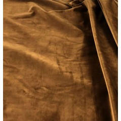 Metraj draperie si tapiterie catifea Italian Velvet maro