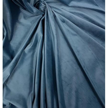Metraj draperie si tapiterie catifea Italian Velvet turcoaz inchis