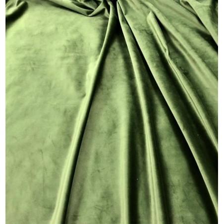 Metraj draperie si tapiterie catifea Italian Velvet verde olive