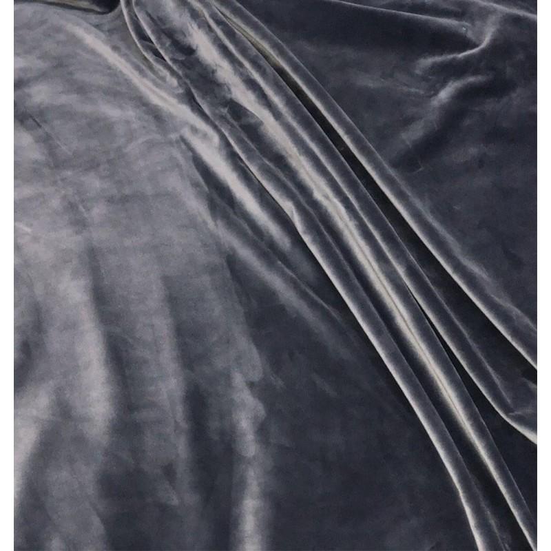 Metraj draperie si tapiterie catifea Italian Velvet gri
