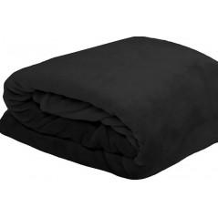 Patura pufoasa Doudou negru 130x160 cm