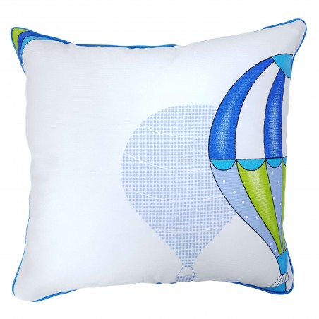 Perna decorativa cu 2 fete balon alb si albastru