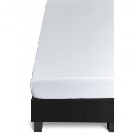 Cearceaf de calitate cu elastic pentru pat Jersey alb