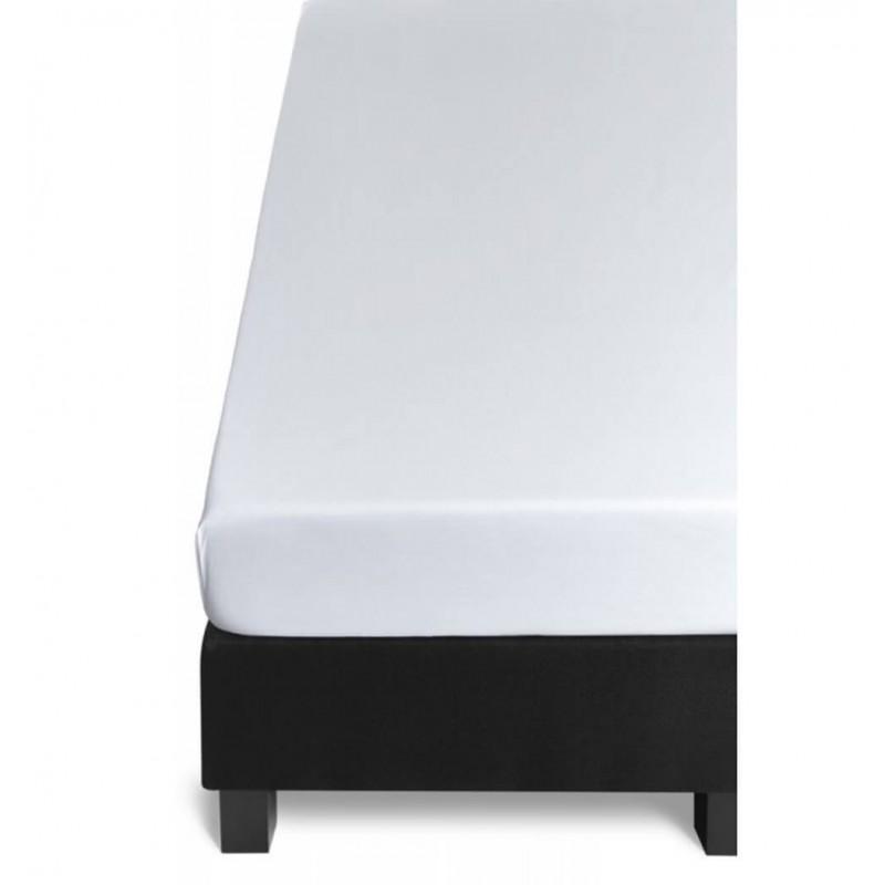 Cearceaf de pat cu elastic Percal alb