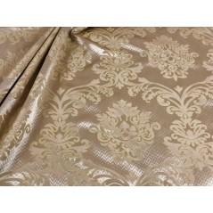 Metraj draperie si tapiterie cu design clasic pe nuante de crem si bej auriu