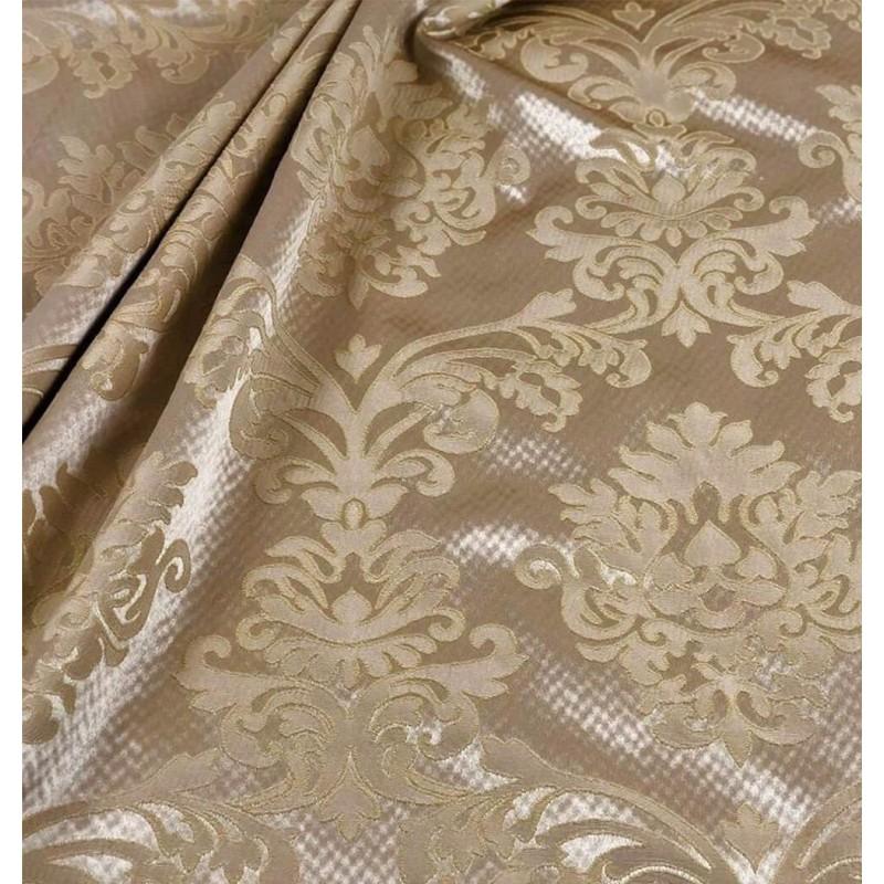 Metraj draperie si tapiterie clasica crem auriu