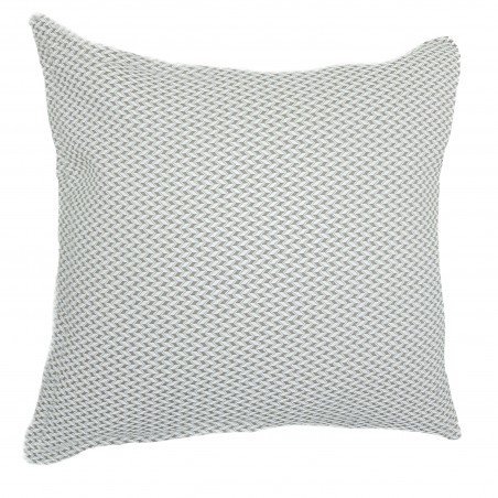 Perna decorativa moderna alb cu bej
