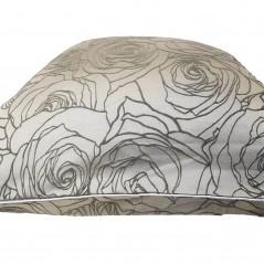 Perna decorativa moderna cu model in relief pe fond gri