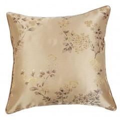 Perna decorativa bej auriu cu floricele maro