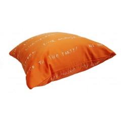 Perna decorativa vesela portocalie cu scris