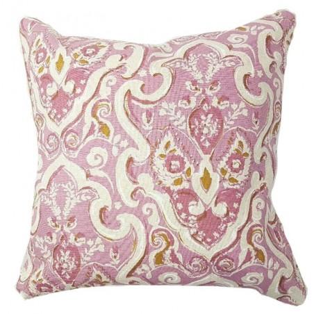 Perna decorativa cu 2 fete roz cu crem
