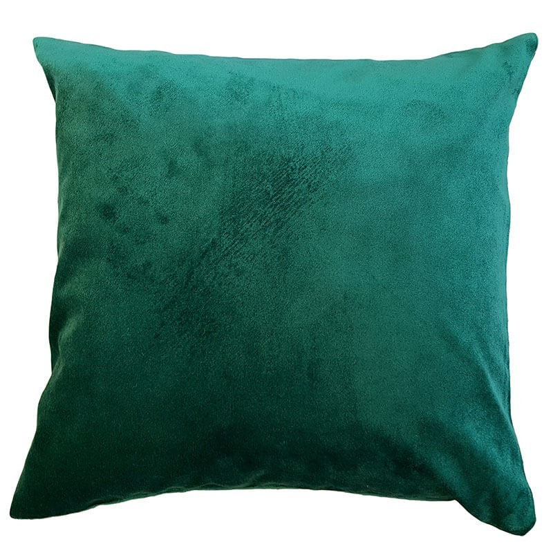 Perna decorativa clasica catifea verde intens