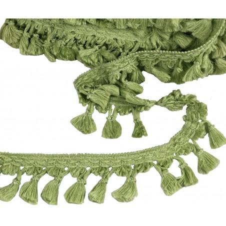 Metraj ciucuri pentru draperii verde deschis