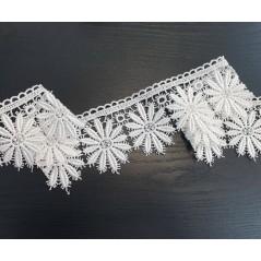 Metraj broderie eleganta pentru perdele alb