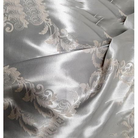 Metraj draperie elegant cu 2 fete model bej cu argintiu
