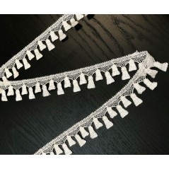 Metraj dantela pentru perdele si draperii Ivory