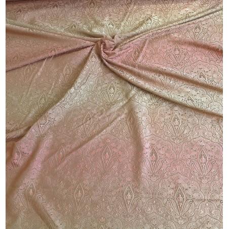 Metraj draperie jacquard degrade roz prafuit cu grej