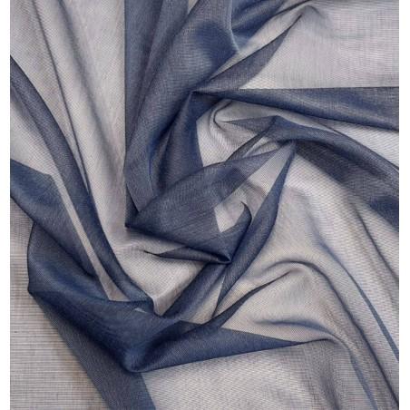 Metraj perdea texturata albastru inchis